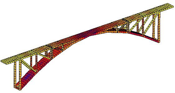 某拱桥受力分析